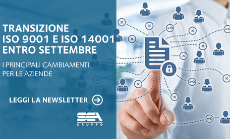 News Transizione ISO9001 ISO14001 1